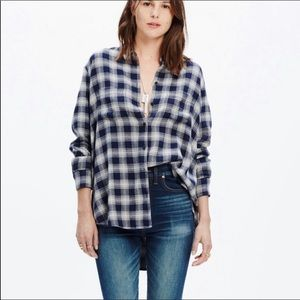 Madewell Andover Plaid Button Down